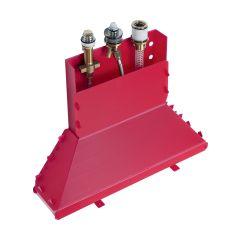 Zestaw podstawowy do baterii 3-otworowej Metris  Hansgrohe 13437180 chrom