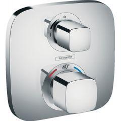 Bateria termostatyczna Ecostat E z zaworem odcinającym, montaż podtynkowy, element zewnętrzny 15707000