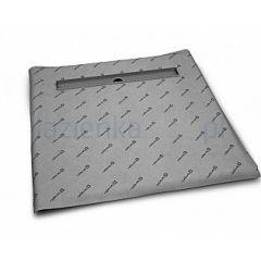 Płyta prysznicowa z odpływem liniowym 5CL0808A_5R055S_5SL1 Radaway Steel