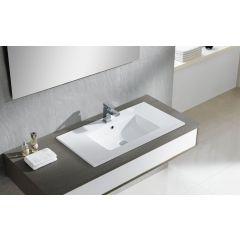 Umywalka prostokątna 81x46 cm 4066 Bathco Spain Liebana