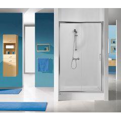 Drzwi prysznicowe 120x190 cm D2/TX5b-120  Sanplast 600-271-1120-38-401 profil srebrny błyszczący szkło transparent W0