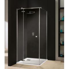 Kabina narożna kwadratowa 90x90x195 cm KNDJ2/FREE-90 Free Line Sanplast 600-260-0610-42-401 Glass Protect profil chrom szkło W0
