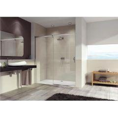 Drzwi prysznicowe rozsuwane 170x190 cm Aura Elegance GT Huppe 401409.055.321 profil biały szkło transparent