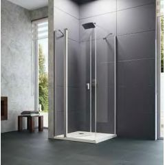 Ścianka prysznicowa 100 cm 8P1023123322 Huppe Design Pure 4-kąt