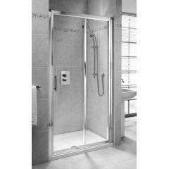 Drzwi prysznicowe 110x190 cm część 1/2 Geo 6 Koło GDRS11222003A profil srebrny połysk szkło przezroczyste