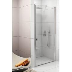 Drzwi prysznicowe 90x195 cm Chrome CSD1 Ravak 0QV70C00Z1 AntiCalc profil polerowane aluminium szkło transparent