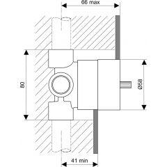 Przełącznik podtynkowy trójdrożny A2393NU Ideal Standard