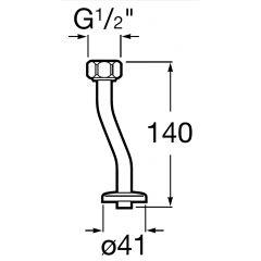 Rurka zasilająca do zaworu ciśnieniowego Roca Sprint-N A5A9317C00