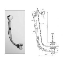 Syfon do wanny Z90010 Zucchetti