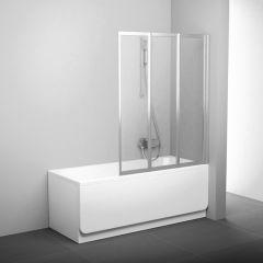Parawan nawannowy VS3 100 RAVAK 795P0U00Z1 profil satyna szkło transparent