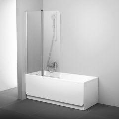 Parawan nawannowy lewy 100x150 cm CVS2 Ravak 7QLA0C00Z1 AntiCalc profil polerowane aluminium szkło transparent