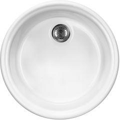 Zlewozmywak ceramiczny 1-komorowy Lusitano Deante ZCL 680N biały