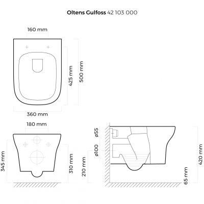 Miska WC wisząca 42103000 Oltens Gulfoss