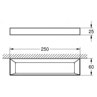 Wieszak na ręcznik 40766000 Grohe Selection Cube