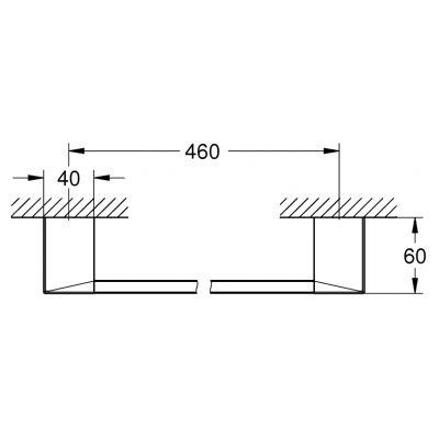 Wieszak na ręcznik 40767000 Grohe Selection Cube