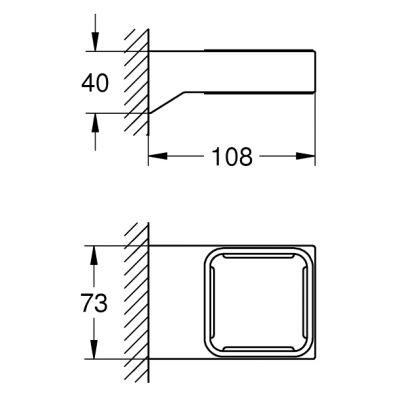 Uchwyt do akcesoriów 40865000 Grohe Selection Cube