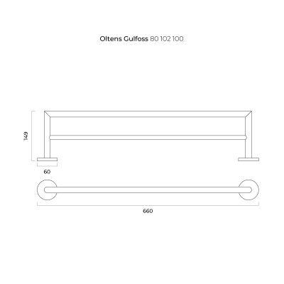 Wieszak na ręcznik 80102100 Oltens Gulfoss
