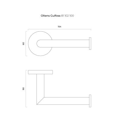 Uchwyt na papier toaletowy 81102100 Oltens Gulfoss
