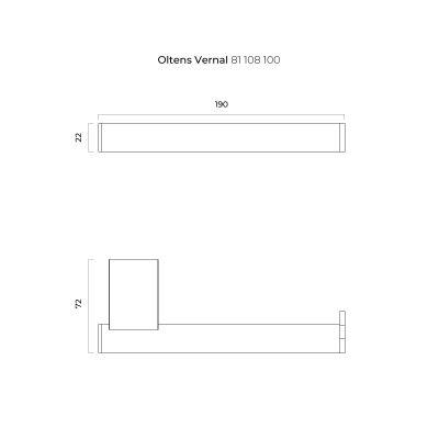 Uchwyt na papier toaletowy 81108100 Oltens Vernal