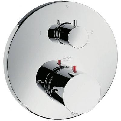 Bateria termostatowa podtynkowa jednouchwytowa z zaworem odcinająco-przełączającym Axor Starck DN15 Hansgrohe 10720000 chrom