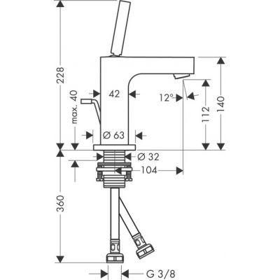 Jednouchwytowa bateria umywalkowa z automatycznym korkiem Citterio Axor  Hansgrohe 39010000