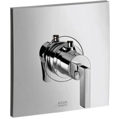 Bateria termostatowa podtynkowa jednouchwytowa HighFlow Citterio Hansgrohe 39711000 z uchwytem jednoramiennym chrom