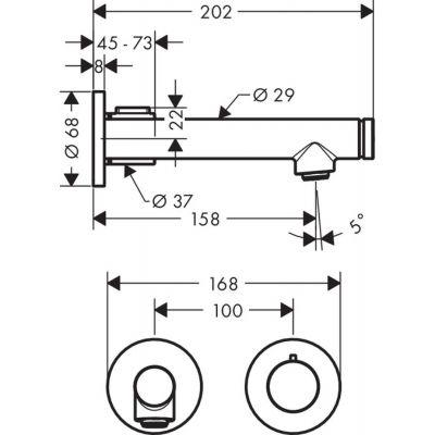 Bateria umywalkowa podtynkowa 45112000 Axor Uno