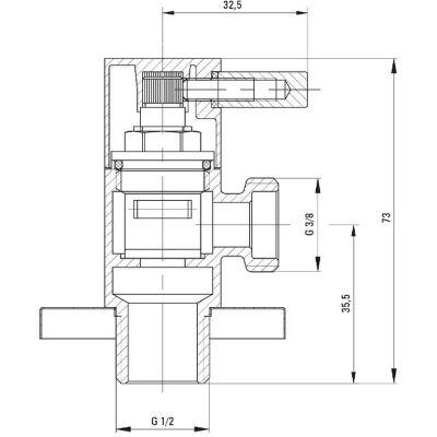 Zawór ścienny kątowy VFAB62R Deante