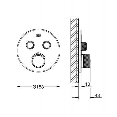 Bateria wannowo-prysznicowa podtynkowa 29119000 Grohe Grohtherm SmartControl