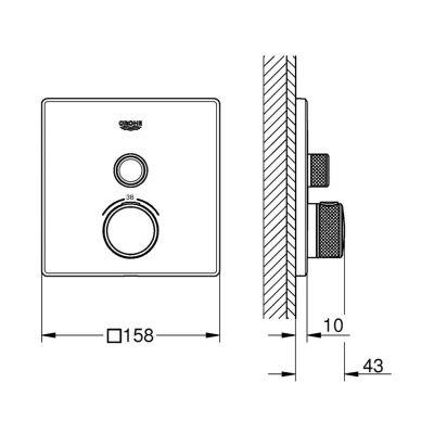 Bateria prysznicowa podtynkowa 29153LS0 Grohe SmartControl