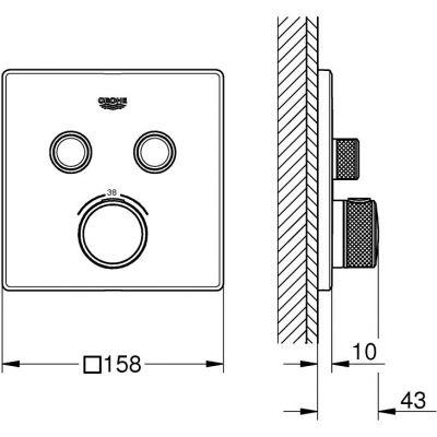 Bateria wannowo-prysznicowa podtynkowa 29124000 Grohe Grohtherm SmartControl