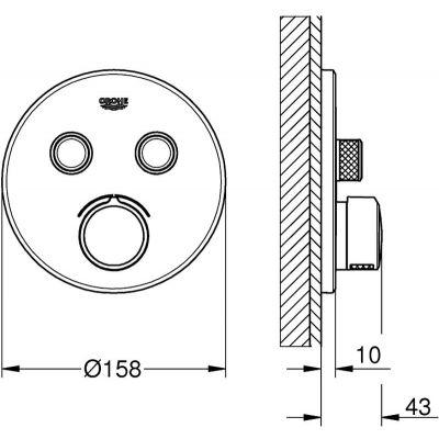Bateria wannowo-prysznicowa podtynkowa 29145000 Grohe SmartControl