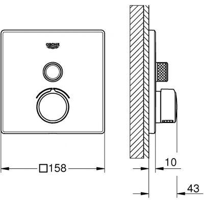 Bateria prysznicowa podtynkowa 29147000 Grohe SmartControl