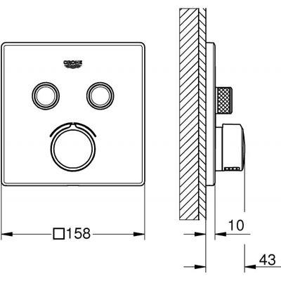 Bateria wannowo-prysznicowa podtynkowa 29148000 Grohe SmartControl