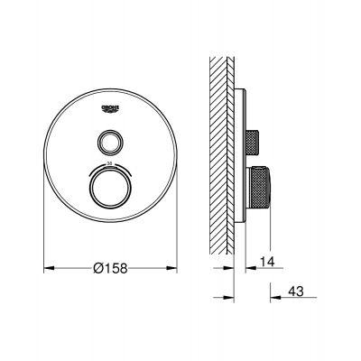Bateria prysznicowa podtynkowa 29150LS0 Grohe Grohtherm SmartControl