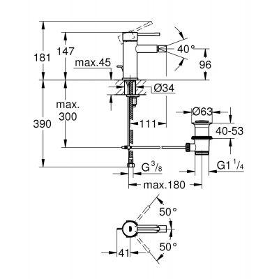 Bateria bidetowa 32935DC1 Grohe Essence