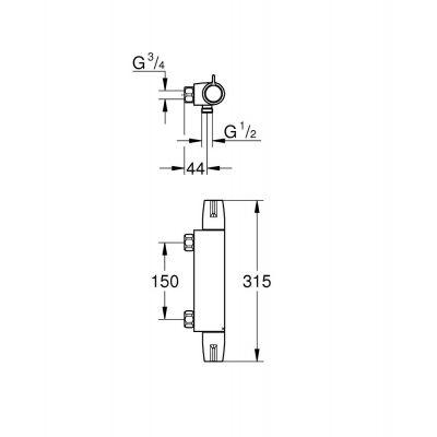Bateria prysznicowa 34681000 Grohe Grohtherm Special