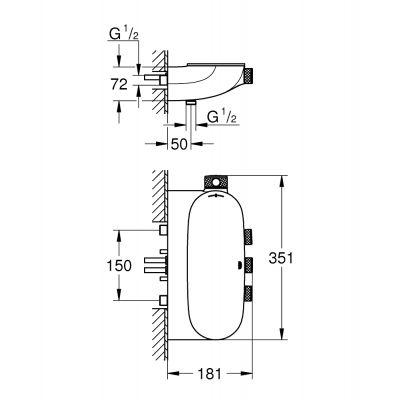 Bateria wannowo-prysznicowa podtynkowa 34713000 Grohe Grohtherm SmartControl