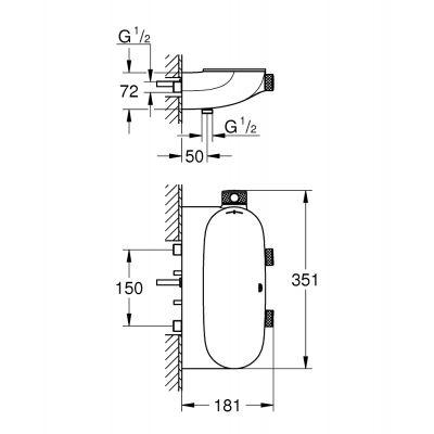 Bateria wannowo-prysznicowa podtynkowa 34714000 Grohe Grohtherm SmartControl
