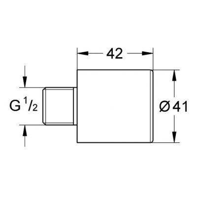 Element dodatkowy baterii 36316000 Grohe Euroeco