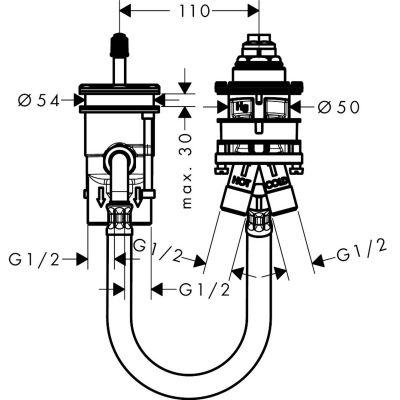 Element podtynkowy baterii 13159180 Hansgrohe Metropol