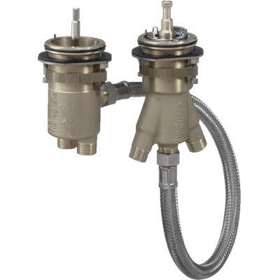 2-otworowy termostat na brzeg wanny DN15, zestaw podstawowy 13550180