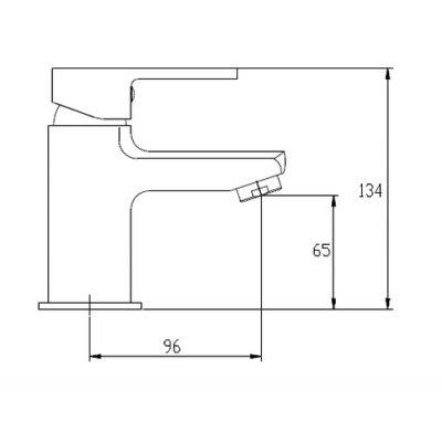 Bateria umywalkowa stojąca chrom BU82001 Invena Verso