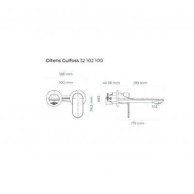 Bateria umywalkowa 32102100 Oltens Gulfoss