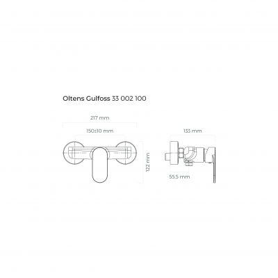 Bateria prysznicowa 33002100 Oltens Gulfoss