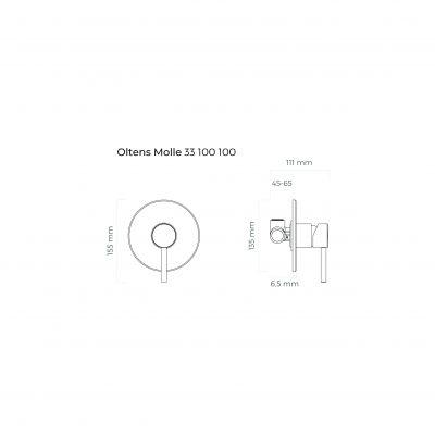 Bateria prysznicowa podtynkowa 33100100 Oltens Molle
