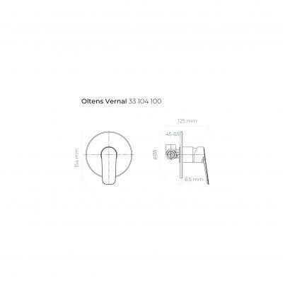 Bateria prysznicowa podtynkowa 33104100 Oltens Vernal