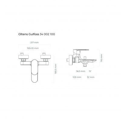 Bateria wannowo-prysznicowa 34002100 Oltens Gulfoss