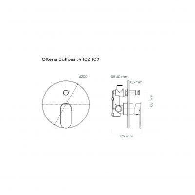 Bateria wannowo-prysznicowa podtynkowa 34102100 Oltens Gulfoss