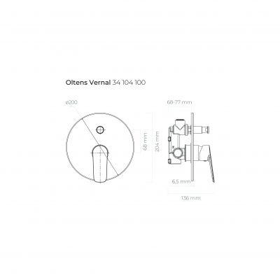 Bateria wannowo-prysznicowa podtynkowa 34104100 Oltens Vernal